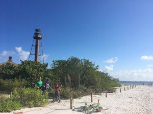 Biking to the Sanibel Island lighthouse