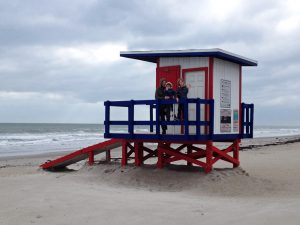 Cocoa Beach lifeguard stand
