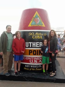 Southernmost Point marker family pic