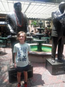New Orleans musician statues