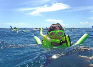 Snorkeling a reef in Key Largo for the first time