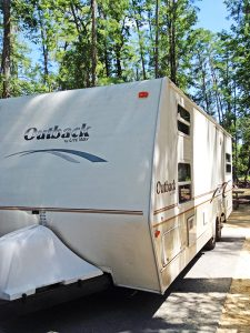 Camping in a trailer or RV helps extend the camping season