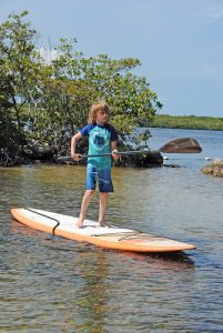 Paddle boarding at John Pennekamp Coral Reef State Park