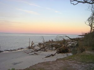 The sun sets on Big Talbot Island