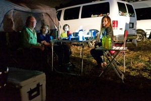 Dining al fresco while camping