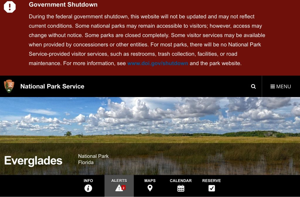 Government shutdown and national parks