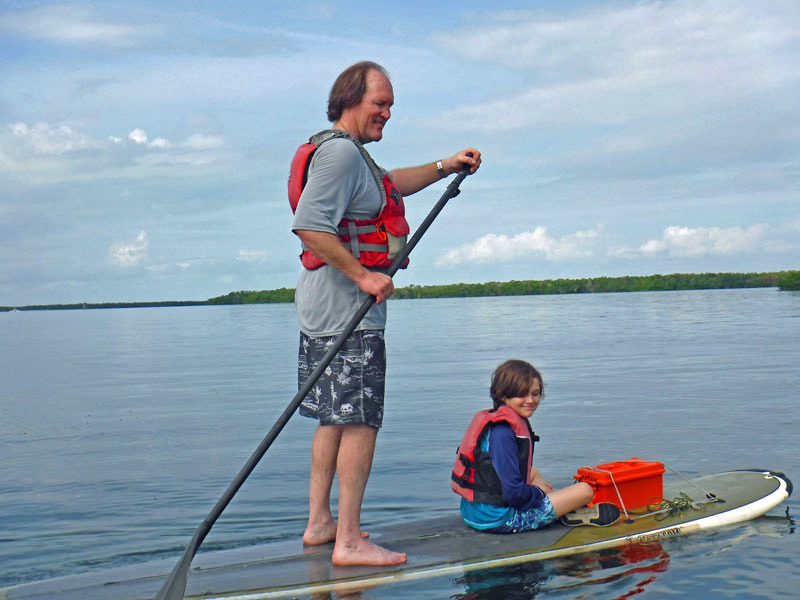 Stand-up paddleboarding (SUP) with kids