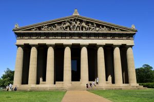 Centennial Park holds a replica of the Parthenon, which is a Nashville art museum