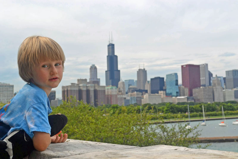 Chicago is a great destination for a family road trip