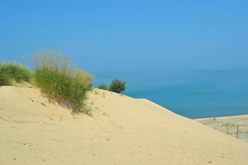 Indiana Dunes National Park is on Lake Michigan's southern end