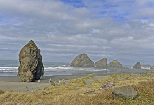 The Oregon coast is wild and rocky