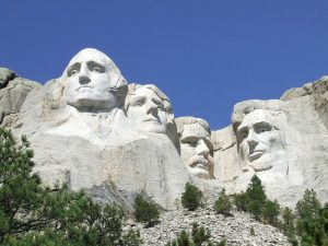 Mount Rushmore and nearby Crazy Horse Memorial offer historical interpretation