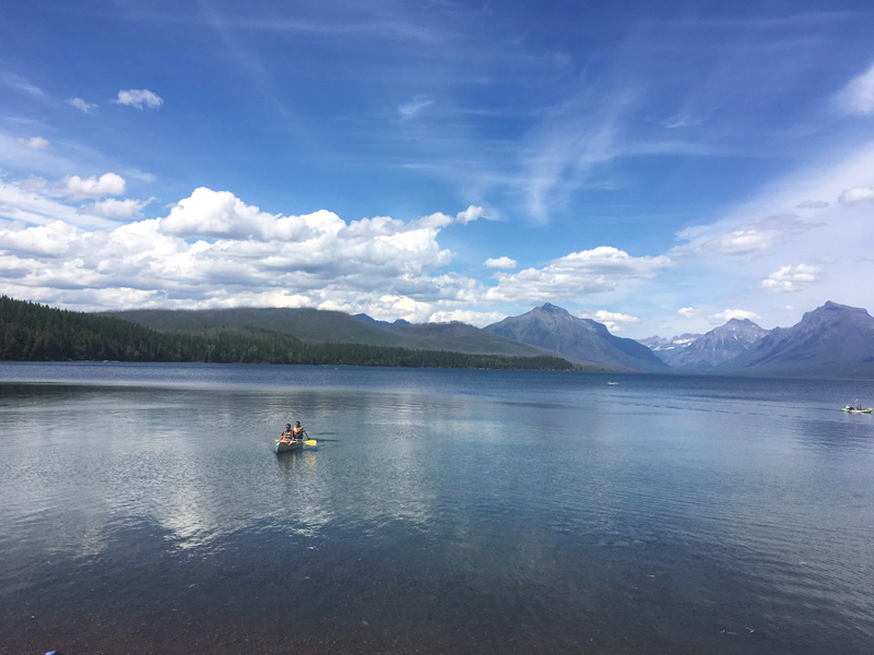 Lake McDonald in the western side of Glacier National Park